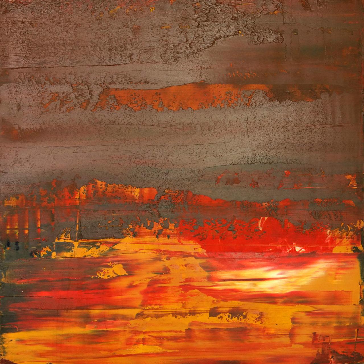 """untitled  30x30x1"""" mvas1202 oil on wood"""